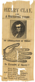 Political:Ribbons & Badges, Henry Clay: Silk Portrait Ribbon. ...