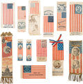 Political:Ribbons & Badges, Henry Clay et al: Collection of Flag Related Political Ribbons....