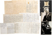 Large Collection of Albert Sabin Letters and Photographs