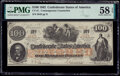 Confederate Notes:1862 Issues, CT41/316A Counterfeit $100 1862 PMG Choice About Unc 58 EPQ.. ...