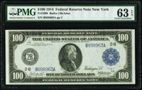 Fr. 1088 $100 1914 Federal Reserve Note PMG Choice Uncirculated 63 EPQ