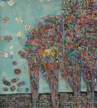 Moshe Tamir (1924-2004) Untitled, 1981 Oil on canvas 57-1/4 x 51 inches (145.4 x 129.5 cm) Sig