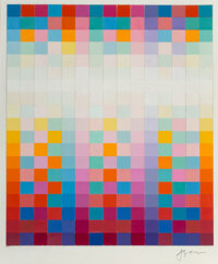 Yaacov Agam (b. 1928) Untitled Gouache and watercolor painted paper collage on paper 20-1/2 x 17-