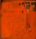 Paintings, Michio Takayama (1903-1994). Imprint of Time, 1964. Oil on canvas. 49-3/4 x 45-1/4 inches (126.4 x 114.9 cm). Signed and...