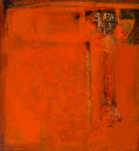 Michio Takayama (1903-1994) Imprint of Time, 1964 Oil on canvas 49-3/4 x 45-1/4 inches (126.4 x 114.9 cm) Signed and