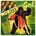 Movie Posters:Horror, The Monster and the Girl (Paramount, 1941). Folded, Very G...