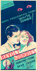 Movie Posters:Horror, Revolt of the Zombies (Academy, 1936). Folded, Very Fine-....
