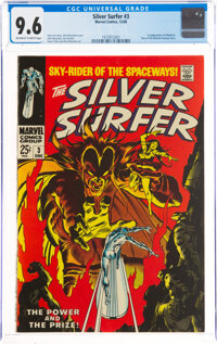 The Silver Surfer #3 (Marvel, 1968) CGC NM+ 9.6 Off-white to white pages