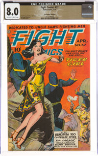 Fight Comics #37 The Promise Collection Pedigree (Fiction House, 1945) CGC VF 8.0 Off-white to white pages