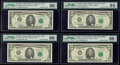 Small Size:Federal Reserve Notes, Fr. 1984-B (2); B*; C $5 1995 Federal Reserve Notes. PMG Graded Choice Uncirculated 64 EPQ-Gem Uncirculated 66 EPQ.. ... (Total: 4 notes)
