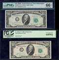 Small Size:Federal Reserve Notes, Fr. 2013-C; C* $10 1950C Federal Reserve Notes. PMG Gem Uncirculated 66 EPQ; PCGS Very Choice New 64PPQ.. ... (Total: 2 notes)