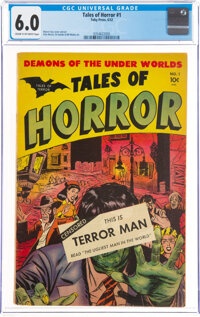 Tales of Horror #1 (Toby Publishing, 1952) CGC FN 6.0 Cream to off-white pages
