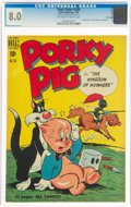 Golden Age (1938-1955):Miscellaneous, Four Color #284 Porky Pig - File Copy (Dell, 1950) CGC VF 8.0 Off-white to white pages....