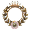 Estate Jewelry:Brooches - Pins, Victorian Diamond, Cultured Pearl, Enamel, Gold Brooch. ...