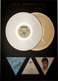 Music Memorabilia:Awards, Rick Springfield Signed and Inscribed Living...