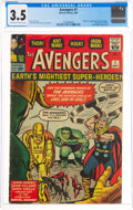 Silver Age (1956-1969):Superhero, The Avengers #1 (Marvel, 1963) CGC VG- 3.5 Off-white to white pages....