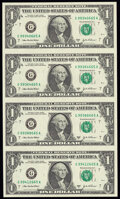 Small Size:Federal Reserve Notes, Assortment of Federal Reserve Notes Uncut Sheets of Four Crisp Uncirculated or Better. . ... (Total: 8 items)