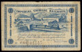 World Currency, China Imperial Chinese Railways, Shanghai 1 Dollar 2.1.1899 Pick A59 S/M#S13-1 Fine.. ...