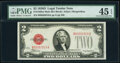Small Size:Legal Tender Notes, Fr. 1505 $2 1928D Mule Legal Tender Note. B-A Block. PMG Choice Extremely Fine 45 EPQ.. ...