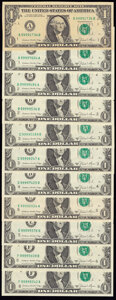 Small Size:Federal Reserve Notes, Fr. 1912-A (2); B (2); C (2); D; E (2); F (2); G (2); H; I (2); J (2); K (2); L (2) $1 1981A Federal Reserve Notes. Crisp Unci... (Total: 22 notes)