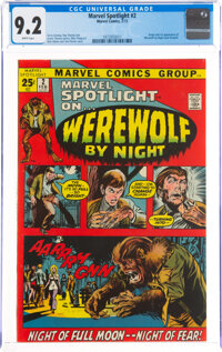 Marvel Spotlight #2 Werewolf by Night (Marvel, 1972) CGC NM- 9.2 White pages