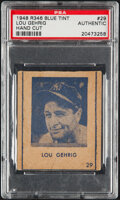 Baseball Cards:Singles (1940-1949), 1948 R346 Blue Tint Lou Gehrig #29 PSA Authentic....
