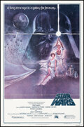 """Movie Posters:Science Fiction, Star Wars (20th Century Fox, 1977). Folded, Fine. Third Printing One Sheet (27"""" X 41"""") Style A, Tom Jung One Sheet. Science ..."""