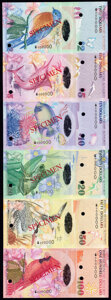 World Currency, Bermuda Monetary Authority 2009 Specimen Set of 6 Examples Crisp Uncirculated.. ... (Total: 6 notes)