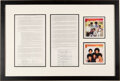 Music Memorabilia:Autographs and Signed Items, The Jackson Five Signed 1978 Two-Page Publishing Agreement...
