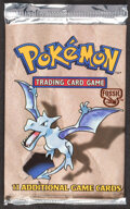 Memorabilia:Trading Cards, Pokémon Unlimited Fossil Set Sealed Booster Pack (Wizards of the Coast, 1999)....