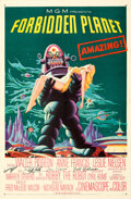Movie Posters:Science Fiction, Forbidden Planet (MGM, 1956). Very Fine+ on Linen....