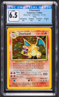 Memorabilia:Trading Cards, Pokémon Charizard #4 Unlimited Base Set Trading Card (Wizards of the Coast, 1999) CGC Ex/NM+ 6.5....