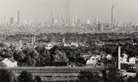 Andreas Feininger (French/American, 1906-1999) New York Skyline, Seen From Great Notch Mountain (diptych), 1941 Gelati...