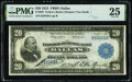 Error Notes:Large Size Errors, Wet Ink Transfer Error Fr. 828 $20 1915 Federal Reserve Bank Note PMG Very Fine 25.. ...