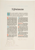 Autographs:U.S. Presidents, Harry S Truman: Nazi Germany's Surrender Proclamation Inscribed and Signed to Cabinet Member Frances Perkins....