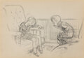 Works on Paper, Ernest Howard Shepard (British, 1879-1976). Asleep. Pencil on paper. 3-1/2 x 5 inches (8.9 x 12.7 cm) (sight). Not signe...