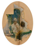Mainstream Illustration, Frank Street (American, 1893-1944). Afternoon Tea, 1919. Oil on board. 18 x 14-1/2 inches (45.7 x 36...