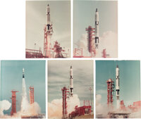 Project Gemini: Collection of Five Vintage NASA Gemini Launch Photos