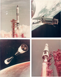 Project Gemini: Collection of Four Vintage NASA Gemini Launch Photos