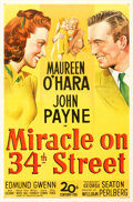 Movie Posters:Comedy, Miracle on 34th Street (20th Century Fox, 1947). Very Fine...