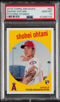 Baseball Cards:Singles (1970-Now), 2018 Topps Archives Shohei Ohtani (Pitching Stance) #50 PSA Gem Mint 10. ...