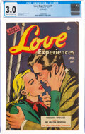 Golden Age (1938-1955):Romance, Love Experiences #6 (Ace, 1951) CGC GD/VG 3.0 Cream to off-white pages....