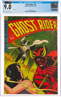 Ghost Rider #12 (Magazine Enterprises, 1953) CGC VF/NM 9.0 Off-white to white pages