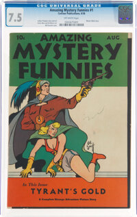 Amazing Mystery Funnies #1 (Centaur, 1938) CGC VF- 7.5 Off-white pages
