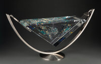 Jon Kuhn (American, b. 1949) Heaven Bound, 2000 Glass, stainless steel 14-3/4 x 29-3/4 inches (37.5 x 75.6 cm)(overal