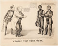 Political:Posters & Broadsides (pre-1896), Ulysses S. Grant: Anti-Greeley Cartoon by John Cameron.