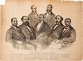 """Political:Posters & Broadsides (pre-1896), """"The First Colored Senator and Representatives in the 41st..."""