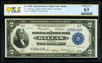 Fr. 776 $2 1918 Federal Reserve Bank Note PCGS Banknote Choice Unc 63