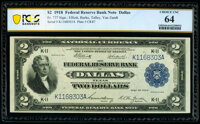 Fr. 777 $2 1918 Federal Reserve Bank Note PCGS Banknote Choice Unc 64
