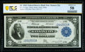 Fr. 775 $2 1918 Federal Reserve Bank Note PCGS Banknote Choice AU 58